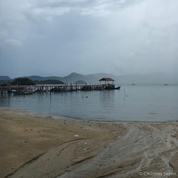 Rainy shores on Langkawi