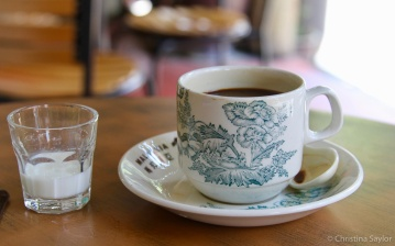 A stop for coffee in Georgetown, Penang Malaysia
