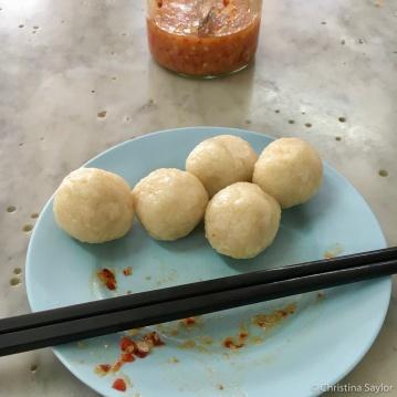 Chicken rice balls at Kedai Kopi Chung Wah, Penang