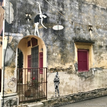 A sampling of the prevalent street art in Georgetown, Penang