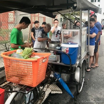 The famous Char Kuey Teow Uncle on Siam Road, Georgetown, Penang