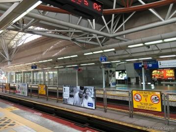 Waiting for the train in Kuala Lumpur