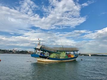 Traditional fishing boat near Kuala Dungun