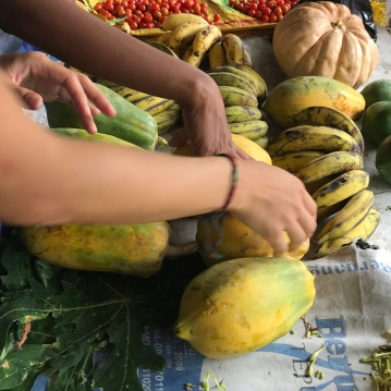 A lesson in picking out produce at the Beloi market
