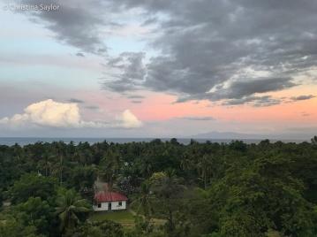 Beloi Village view from the bar at Beloi Beach Hotel