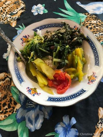 Delicious Sunday lunch in Biqueli Village